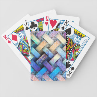 Multi Colored Basket Weave Design Bicycle Playing Cards