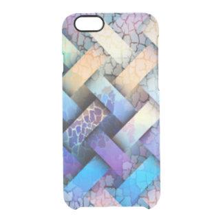 Multi Colored Basket Weave Design Clear iPhone 6/6S Case