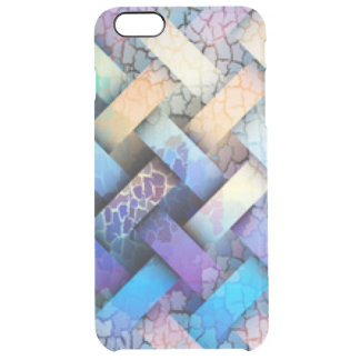 Multi Colored Basket Weave Design Clear iPhone 6 Plus Case