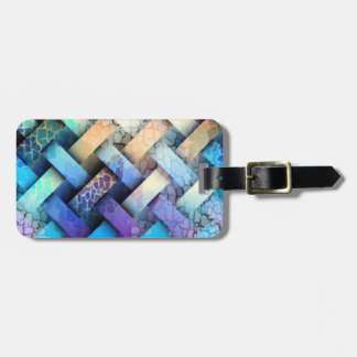Multi Colored Basket Weave Design Luggage Tag