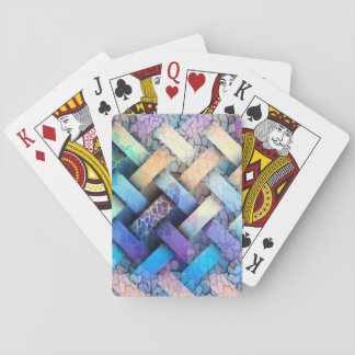 Multi Colored Basket Weave Design Playing Cards