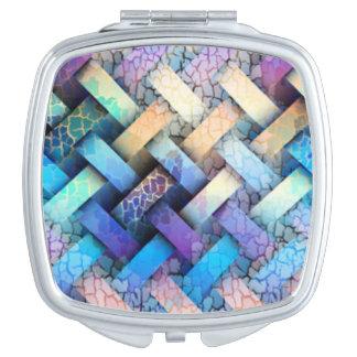 Multi Colored Basket Weave Design Vanity Mirror