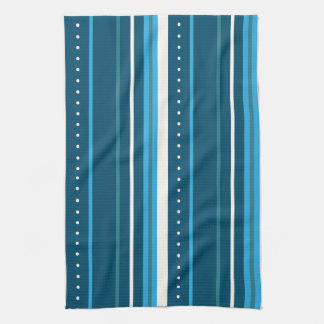 multi-colored blue stripes kitchen towel