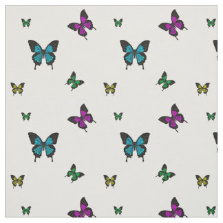 Multi colored Butterfies, Swallow tail Butterfly Fabric