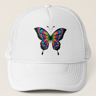 Multi Colored Butterfly Trucker Hat