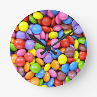 Multi-Colored Candy Wall Clocks