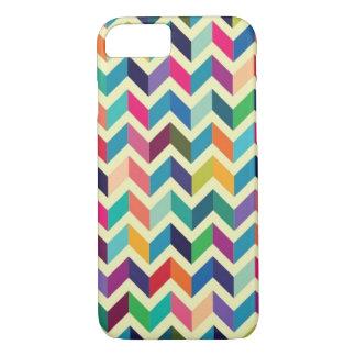 Multi colored chevron striped iphone case