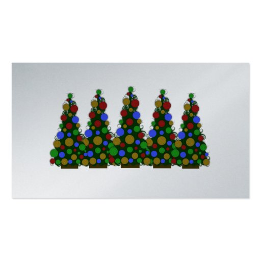 Multi Colored Christmas Tre Message Christmas Tags Business Card