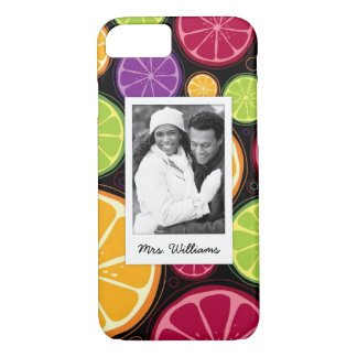 Multi Colored Citrus | Add Your Photo iPhone 8/7 Case