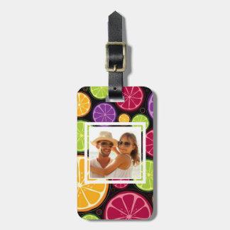 Multi Colored Citrus | Add Your Photo Luggage Tag