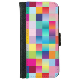 """Multi Colored Design"" iPhone 6 Wallet Case"