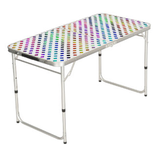 multi-colored Diamonds Beer Pong Table