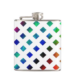 multi-colored Diamonds Hip Flask