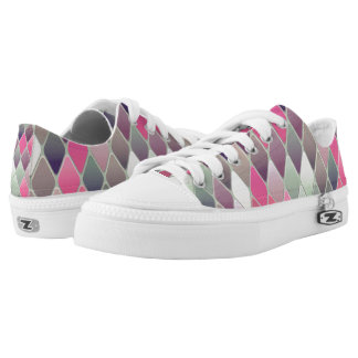 Multi-colored Diamonds Low-Top Sneakers