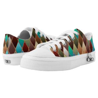 Multi-colored Diamonds Low-Top Sneakers