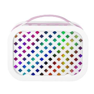 multi-colored Diamonds Lunch Box