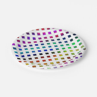 multi-colored Diamonds Paper Plate