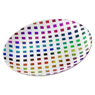 multi-colored Diamonds Plate