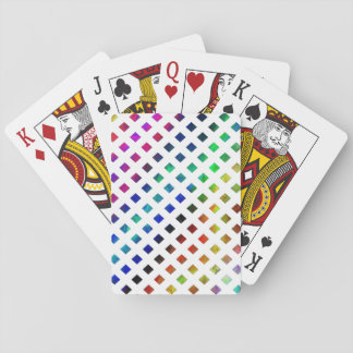 multi-colored Diamonds Playing Cards
