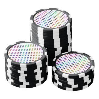 multi-colored Diamonds Poker Chips