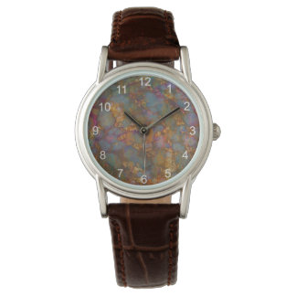 multi-colored distressed grunge stone design watch