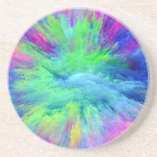 Multi Colored Drink Coaster