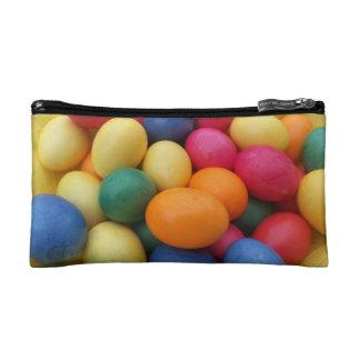 Multi colored Easter Eggs Festive Cosmetic Bag