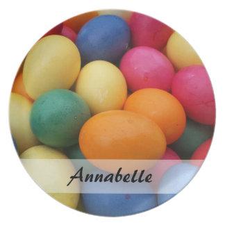 Multi colored Easter Eggs Festive Dinner Plates