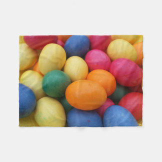 Multi colored Easter Eggs Festive Fleece Blanket