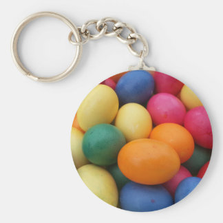 Multi colored Easter Eggs Festive Keychain