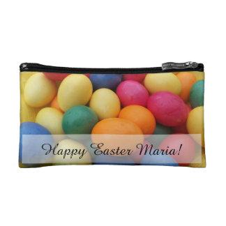 Multi colored Easter Eggs Festive Makeup Bag
