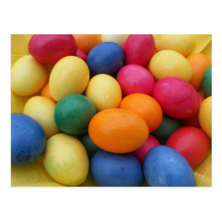 Multi colored Easter Eggs Festive Postcard