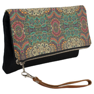 Multi-Colored Ethnic Tribal Pattern Print | Clutch
