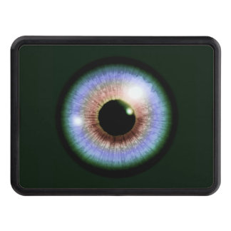 Multi-colored Eyeball Trailer Hitch Cover