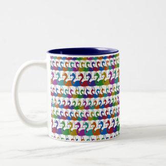 Multi-Colored Flamingo Coffee Mug