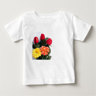 Multi-Colored Flowers Baby T-Shirt