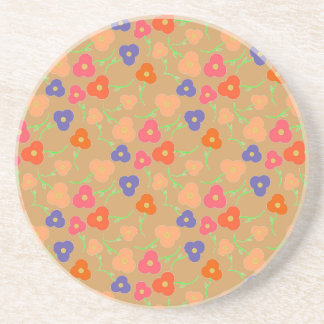 Multi- Colored Flowers Pattern Coasters