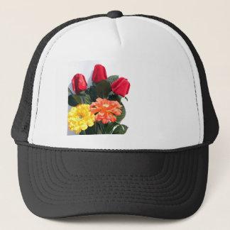 Multi-Colored Flowers Trucker Hat