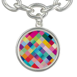 Multi Colored Geometric Charm Bracelets