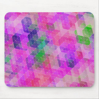 Multi Colored Geometric Constellation Mouse Pad