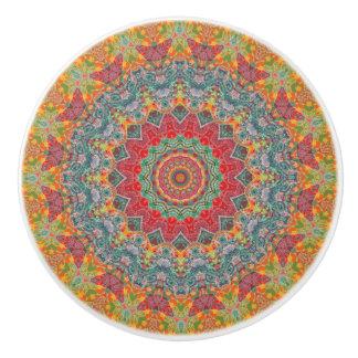 Multi-Colored Gypsy Boho Chic Mandala Ceramic Knob