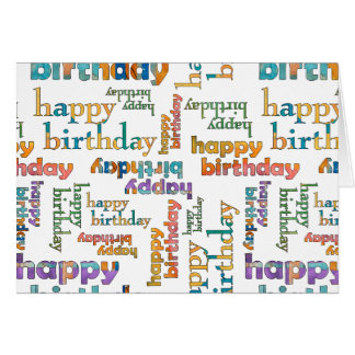 Multi-Colored Happy Birthday Card