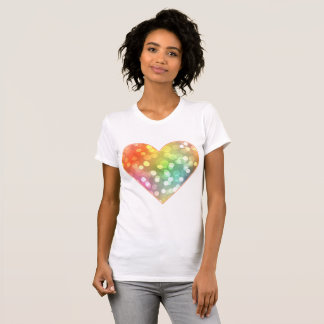 Multi-colored heart with splashes of confetti T-Shirt