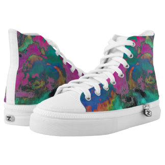 Multi colored high top shoes