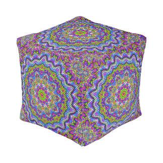 Multi-colored Kaleidoscope Pouf