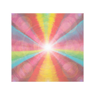 Multi colored light tunnel canvas print