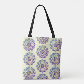 Multi-colored Mandala Design version 1 Tote Bag