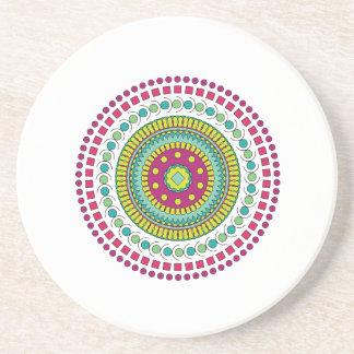 Multi-Colored Mandala Drink Coasters