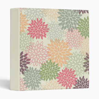 Multi Colored Mums Vinyl Binder