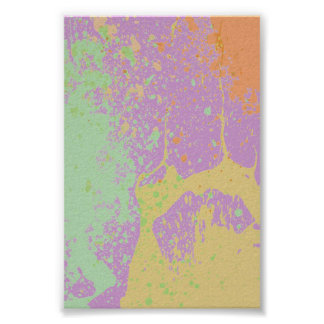 Multi Colored Paint Poster